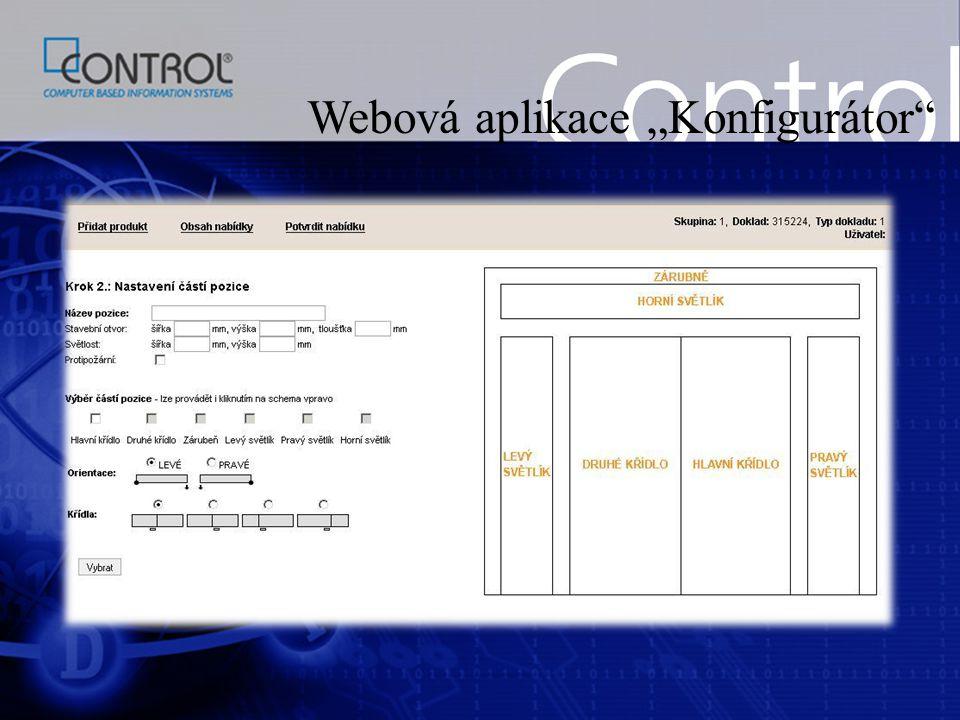 """Webová aplikace """"Konfigurátor"""