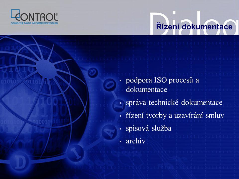 Řízení dokumentace podpora ISO procesů a dokumentace. správa technické dokumentace. řízení tvorby a uzavírání smluv.