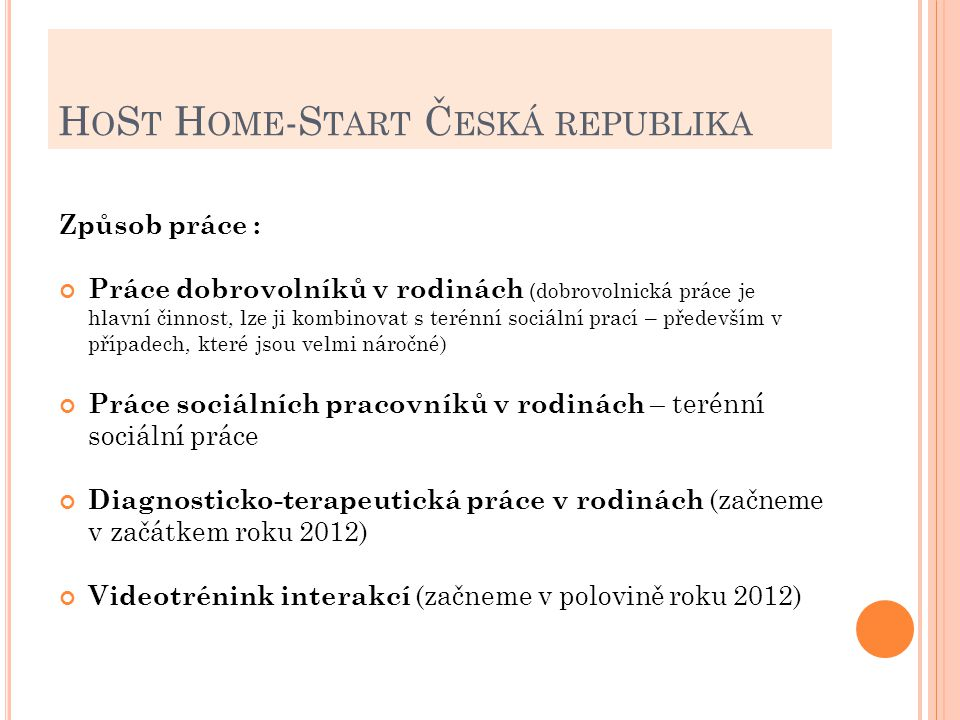 HoSt Home-Start Česká republika