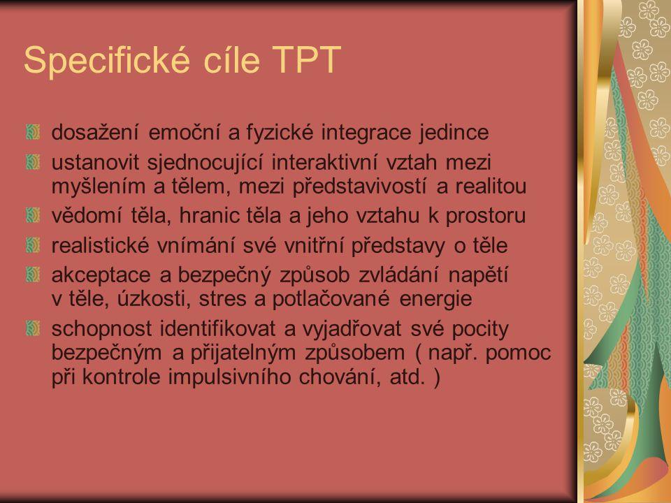 Specifické cíle TPT dosažení emoční a fyzické integrace jedince