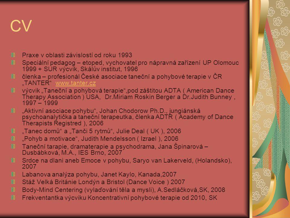 CV Praxe v oblasti závislostí od roku 1993