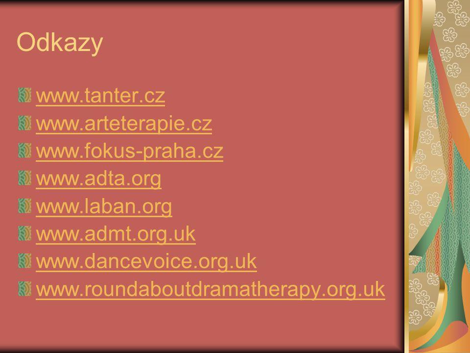 Odkazy www.tanter.cz www.arteterapie.cz www.fokus-praha.cz