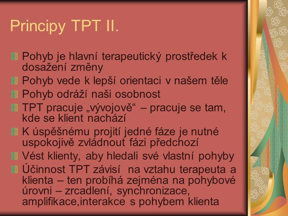 Principy TPT II. Pohyb je hlavní terapeutický prostředek k dosažení změny. Pohyb vede k lepší orientaci v našem těle.