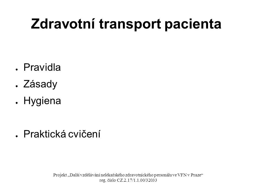 Zdravotní transport pacienta