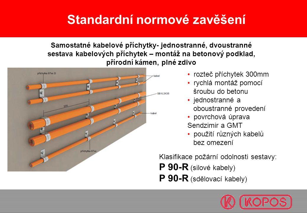 Samostatné kabelové příchytky- jednostranné, dvoustranné
