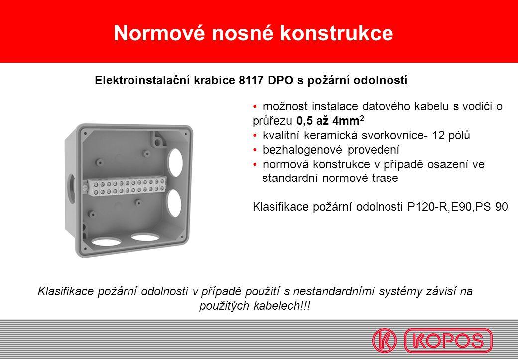 Elektroinstalační krabice 8117 DPO s požární odolností