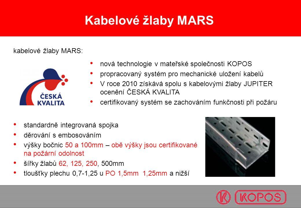 Kabelové žlaby MARS kabelové žlaby MARS: