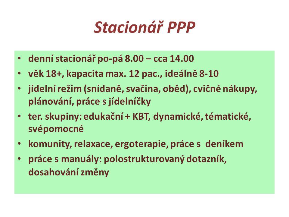 Stacionář PPP denní stacionář po-pá 8.00 – cca 14.00