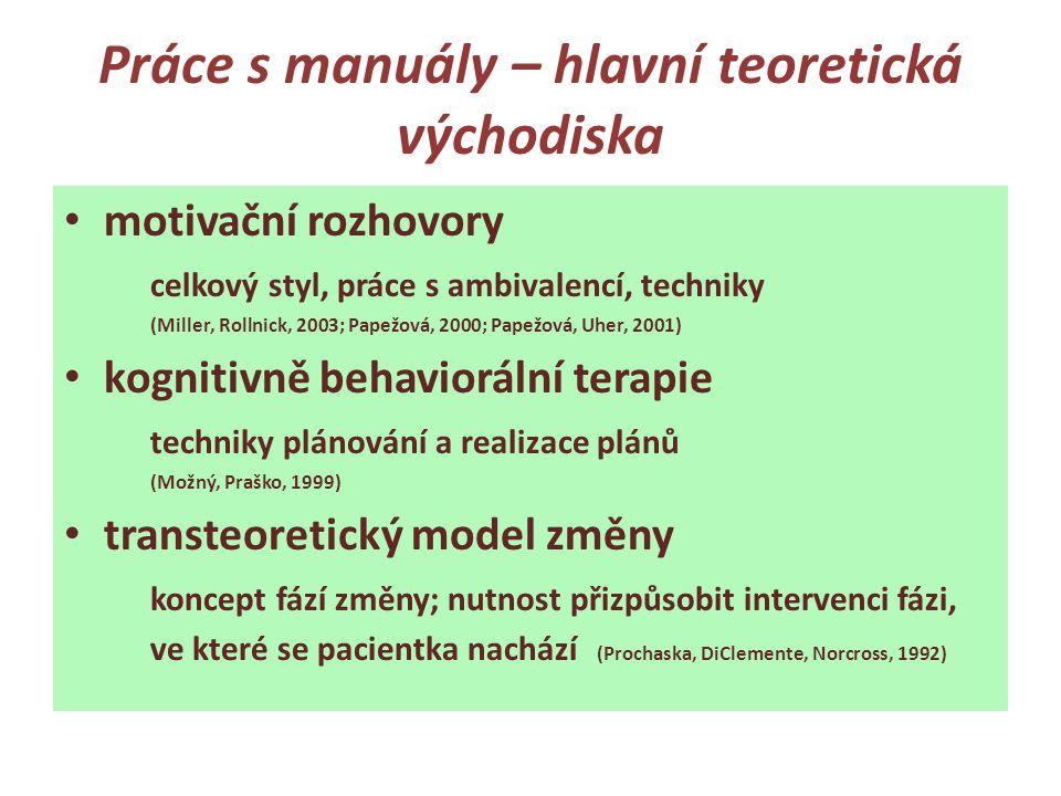 Práce s manuály – hlavní teoretická východiska