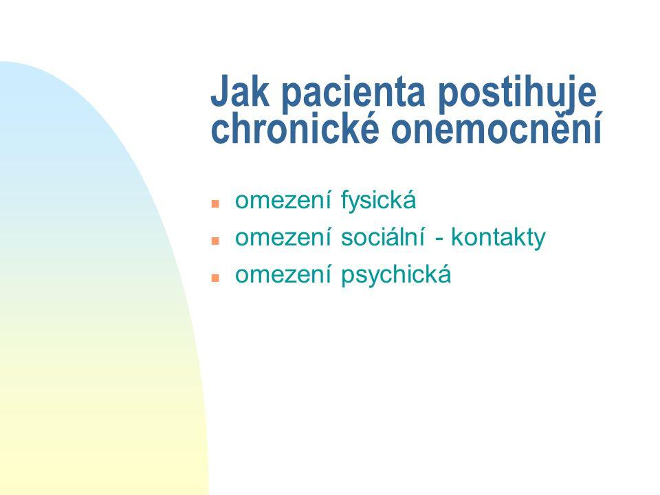 Jak pacienta postihuje chronické onemocnění