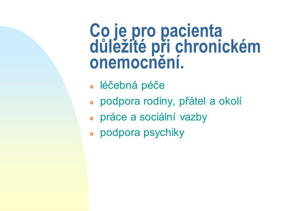 Co je pro pacienta důležité při chronickém onemocnění.