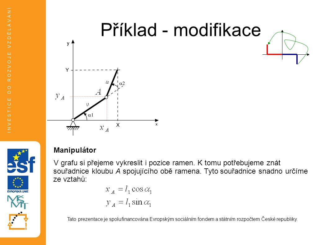 Příklad - modifikace Manipulátor