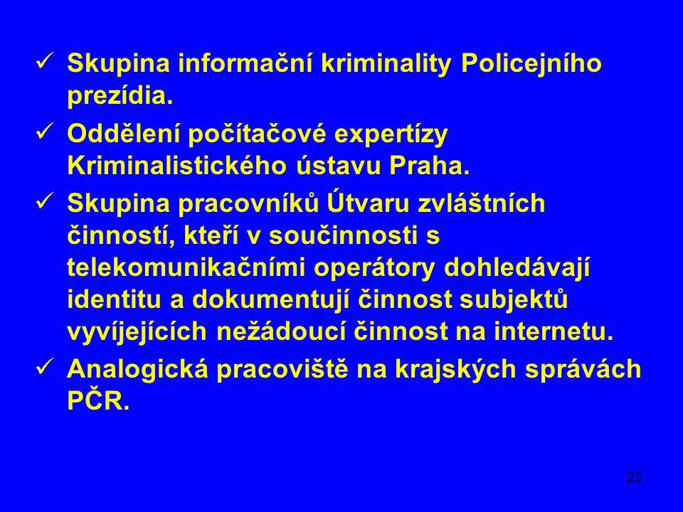 Skupina informační kriminality Policejního prezídia.