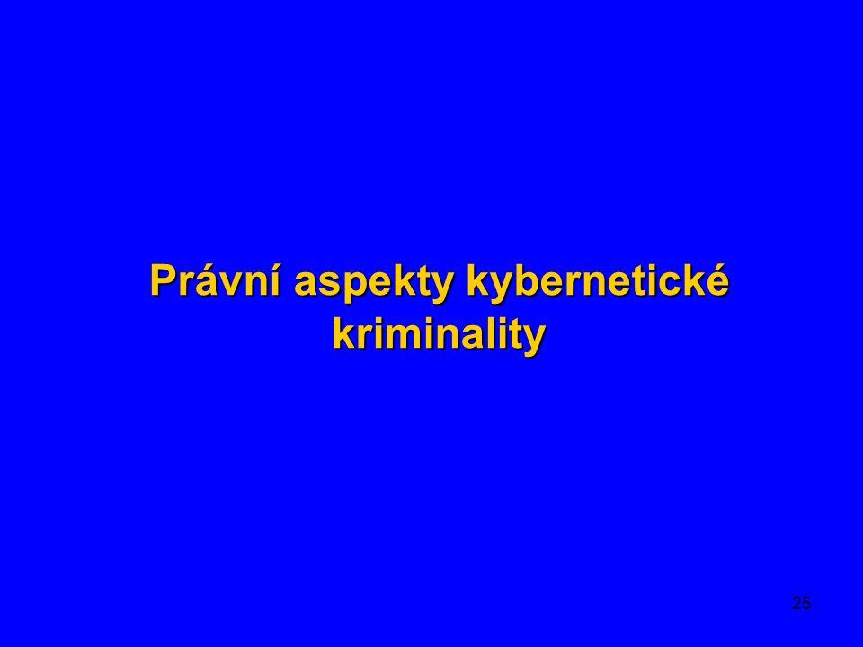 Právní aspekty kybernetické kriminality