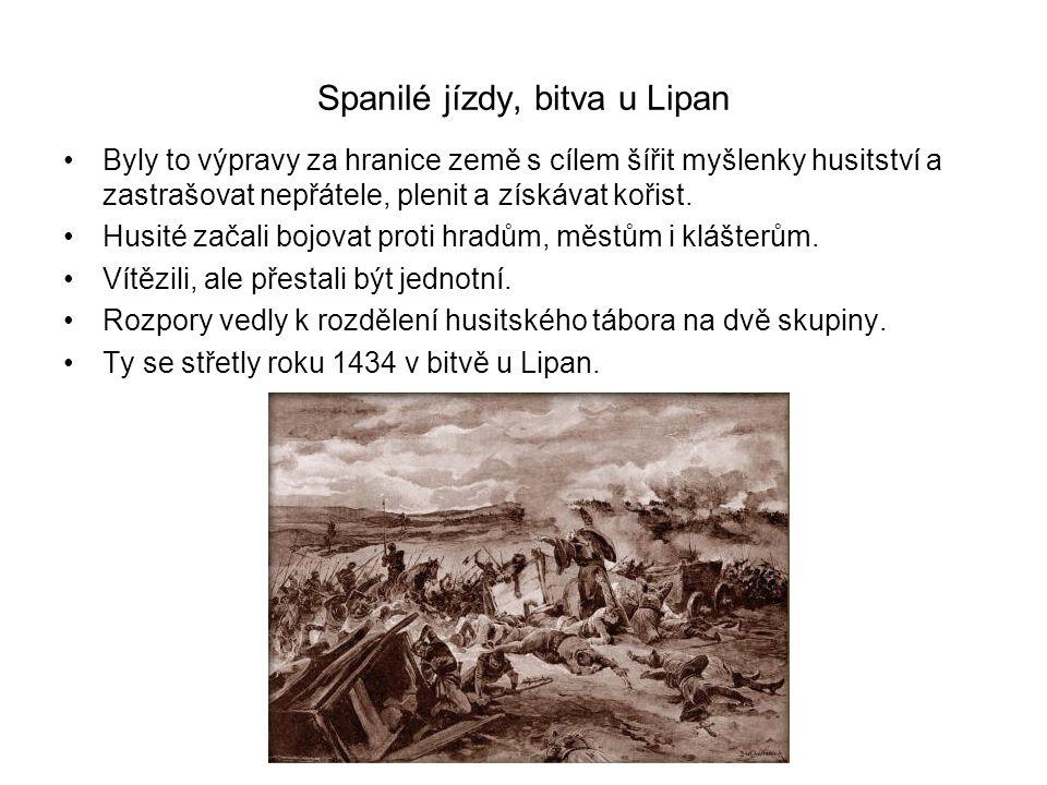 Spanilé jízdy, bitva u Lipan