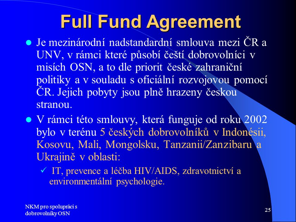 Full Fund Agreement