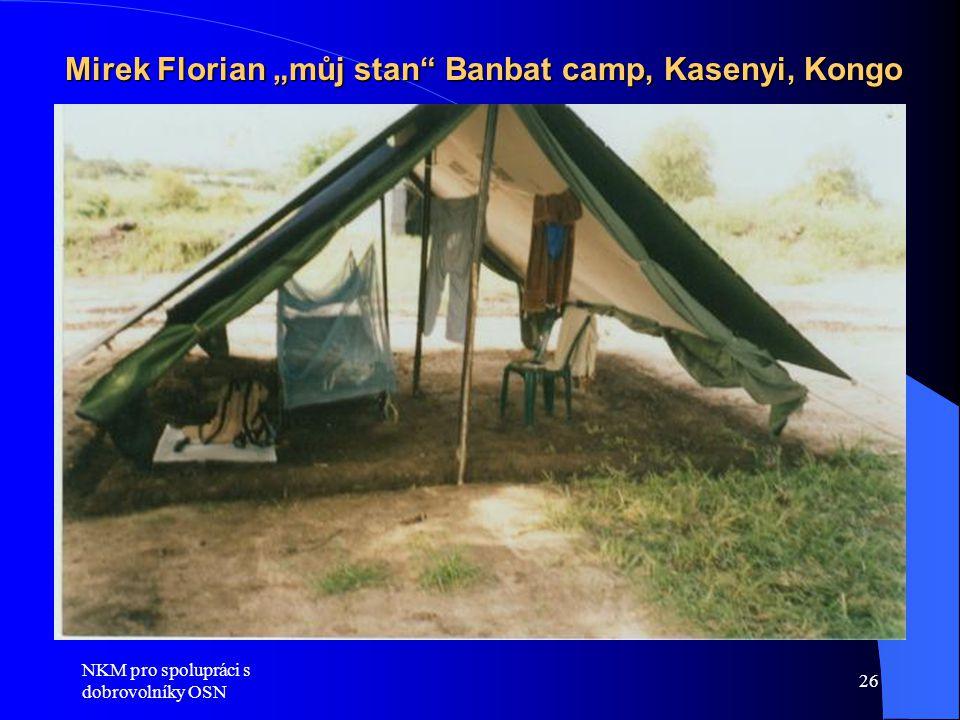 "Mirek Florian ""můj stan Banbat camp, Kasenyi, Kongo"