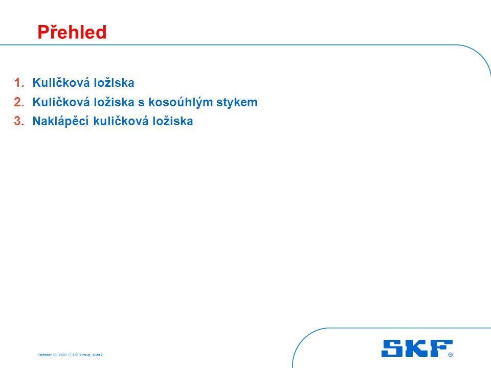 1 Kuličková ložiska October 30, 2007 © SKF Group Slide 3