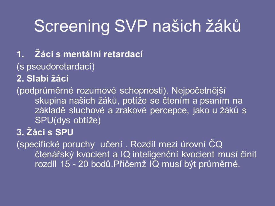 Screening SVP našich žáků