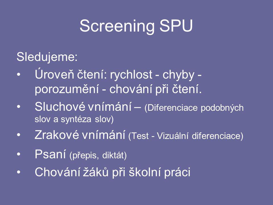 Screening SPU Sledujeme: