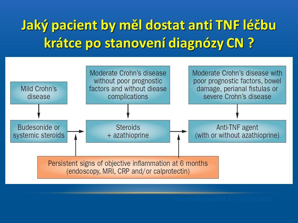 Jaký pacient by měl dostat anti TNF léčbu krátce po stanovení diagnózy CN