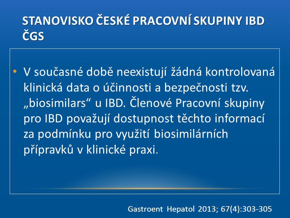 Stanovisko České pracovní skupiny IBD ČGS