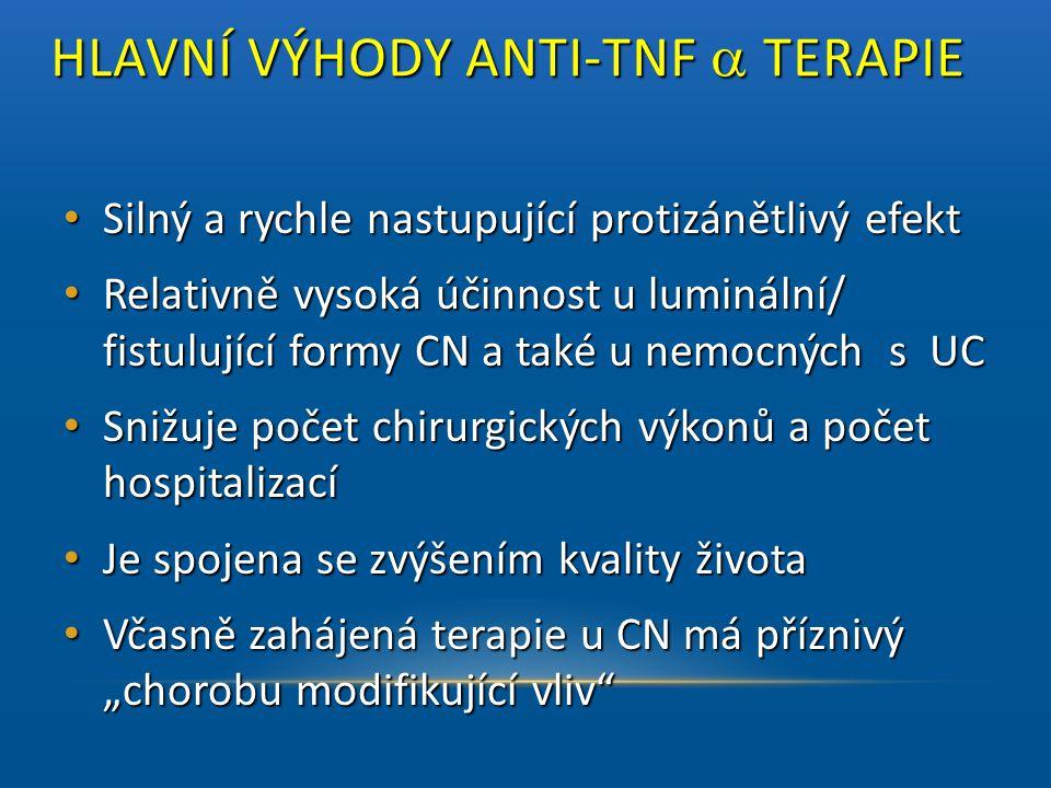HLAVNÍ VÝHODY ANTI-TNF a TERAPIE