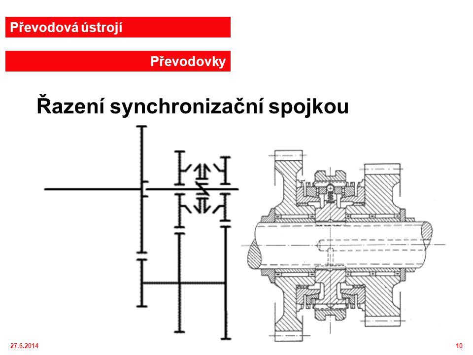 Řazení synchronizační spojkou
