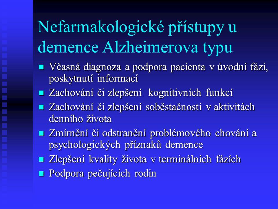 Nefarmakologické přístupy u demence Alzheimerova typu