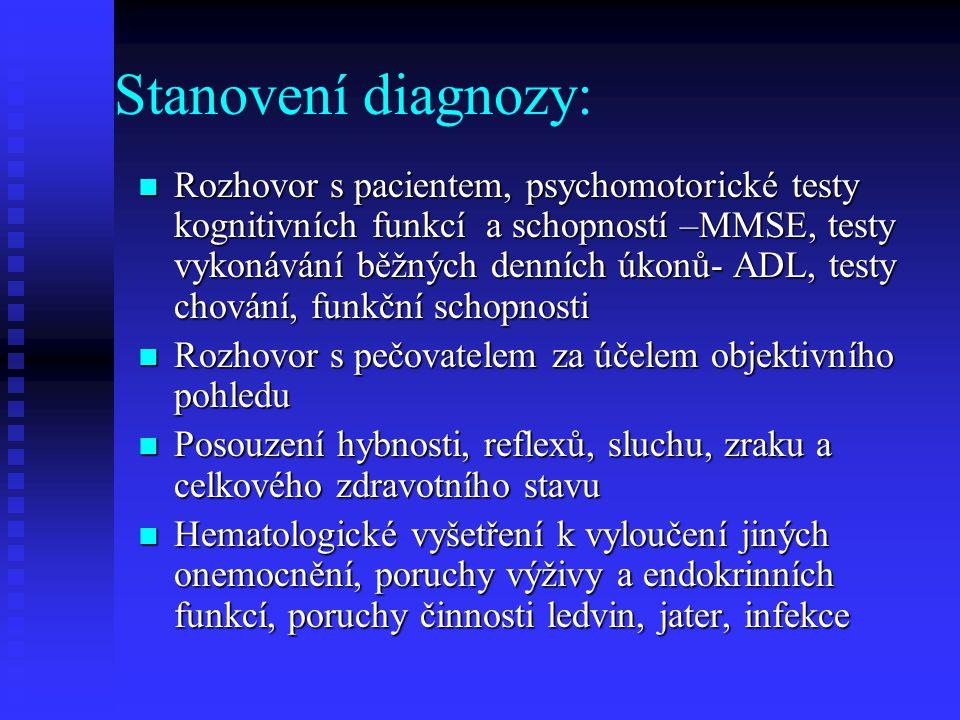 Stanovení diagnozy:
