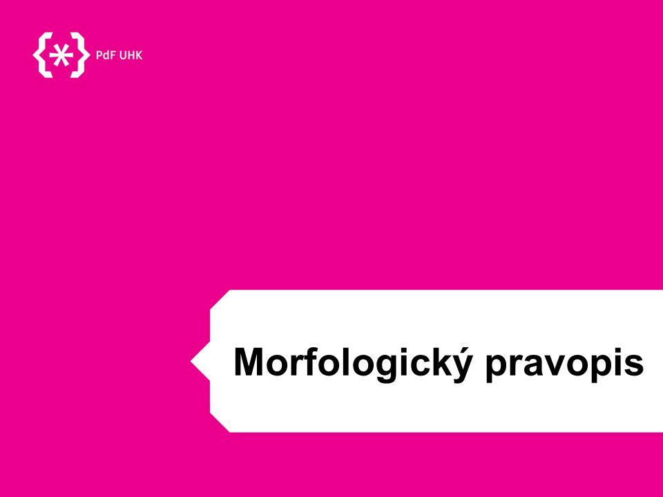 Morfologický pravopis