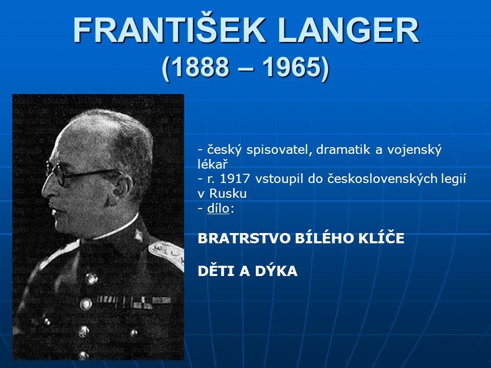 FRANTIŠEK LANGER (1888 – 1965) BRATRSTVO BÍLÉHO KLÍČE DĚTI A DÝKA