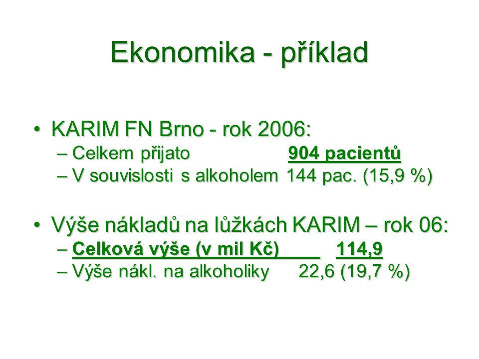Ekonomika - příklad KARIM FN Brno - rok 2006: