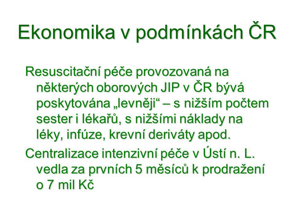 Ekonomika v podmínkách ČR