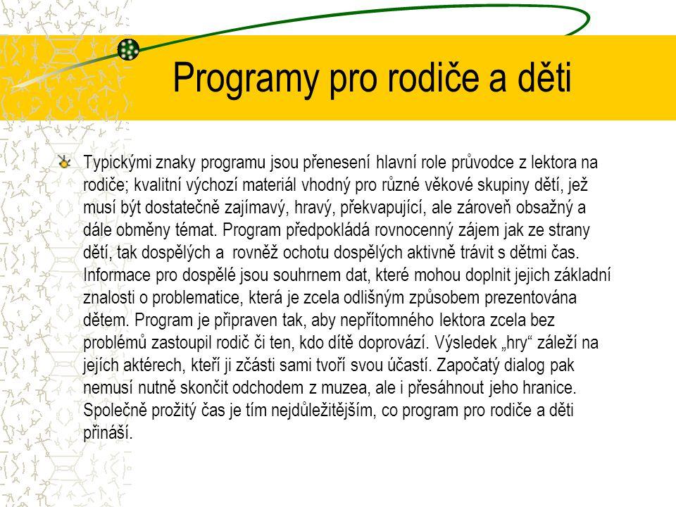 Programy pro rodiče a děti