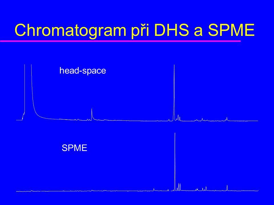 Chromatogram při DHS a SPME