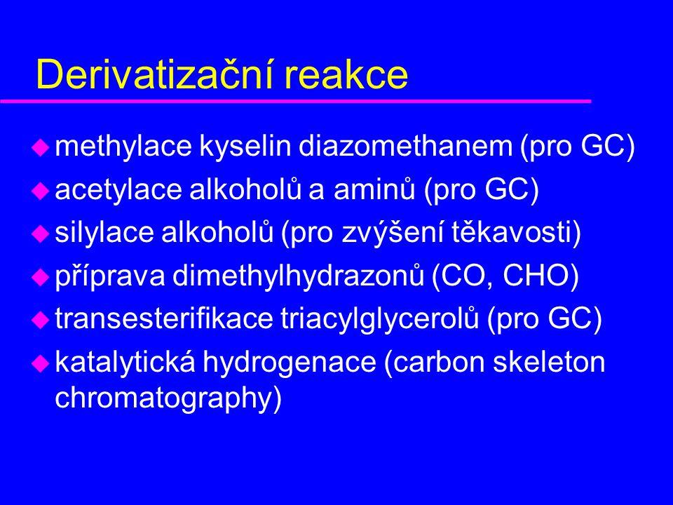 Derivatizační reakce methylace kyselin diazomethanem (pro GC)