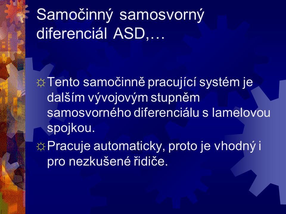 Samočinný samosvorný diferenciál ASD,…
