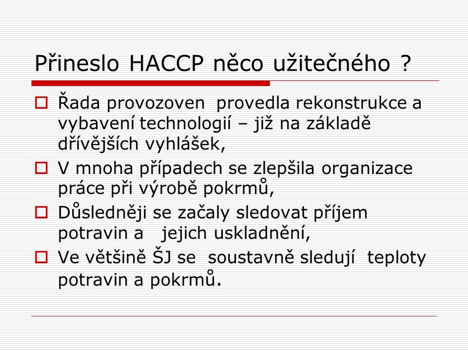 Přineslo HACCP něco užitečného