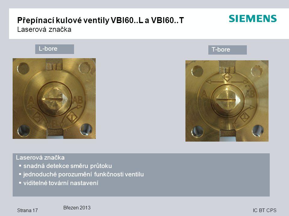 Přepínací kulové ventily VBI60..L a VBI60..T Laserová značka
