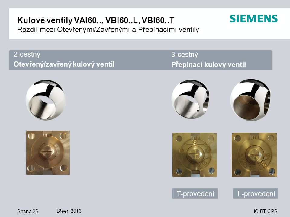 Kulové ventily VAI60. , VBI60. L, VBI60