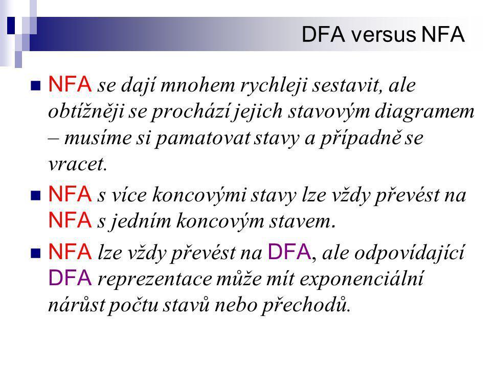 DFA versus NFA