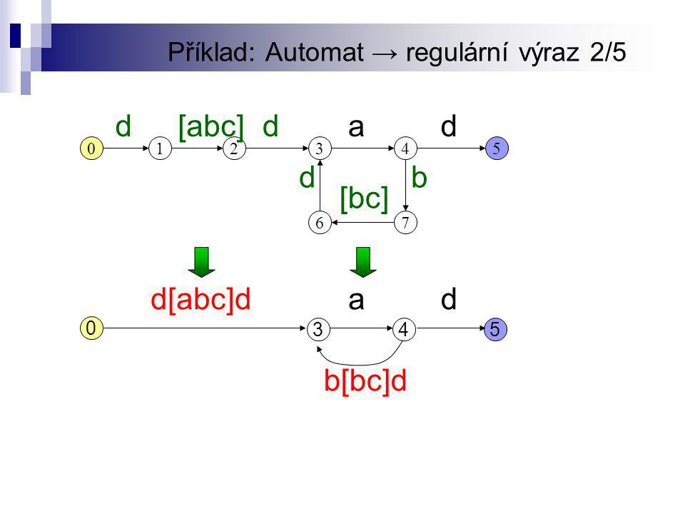 Příklad: Automat → regulární výraz 2/5