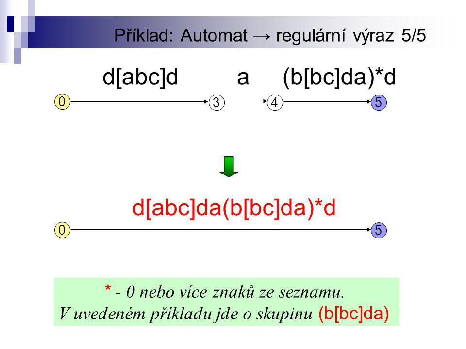 Příklad: Automat → regulární výraz 5/5