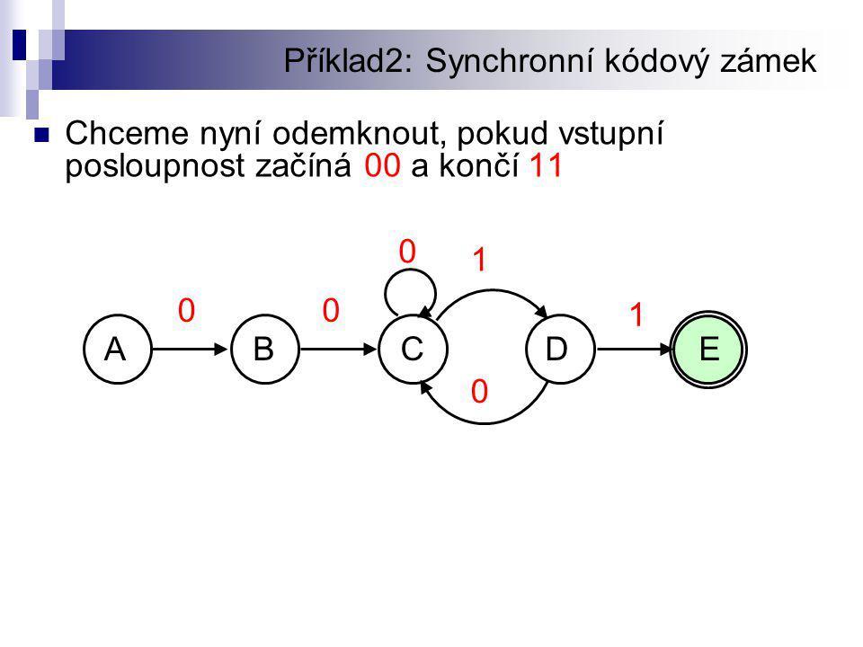 Příklad2: Synchronní kódový zámek