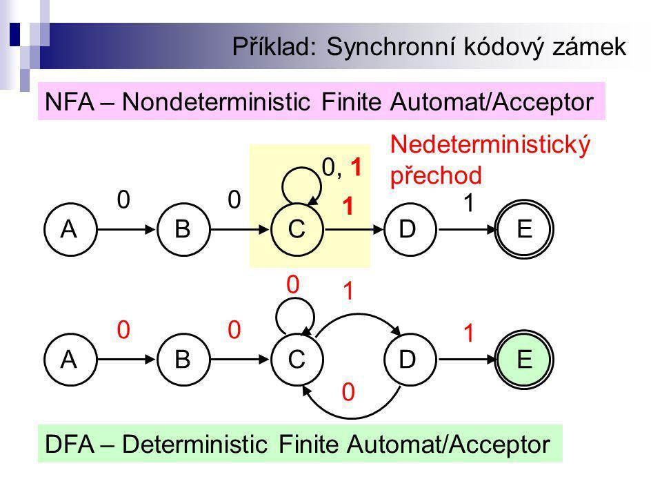 Příklad: Synchronní kódový zámek