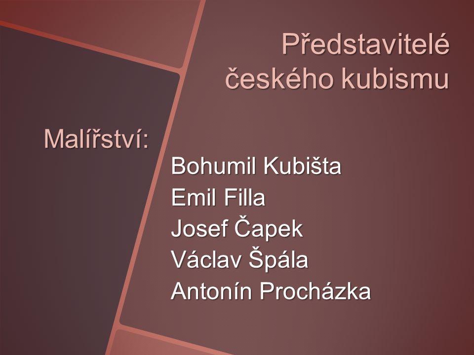 Představitelé českého kubismu