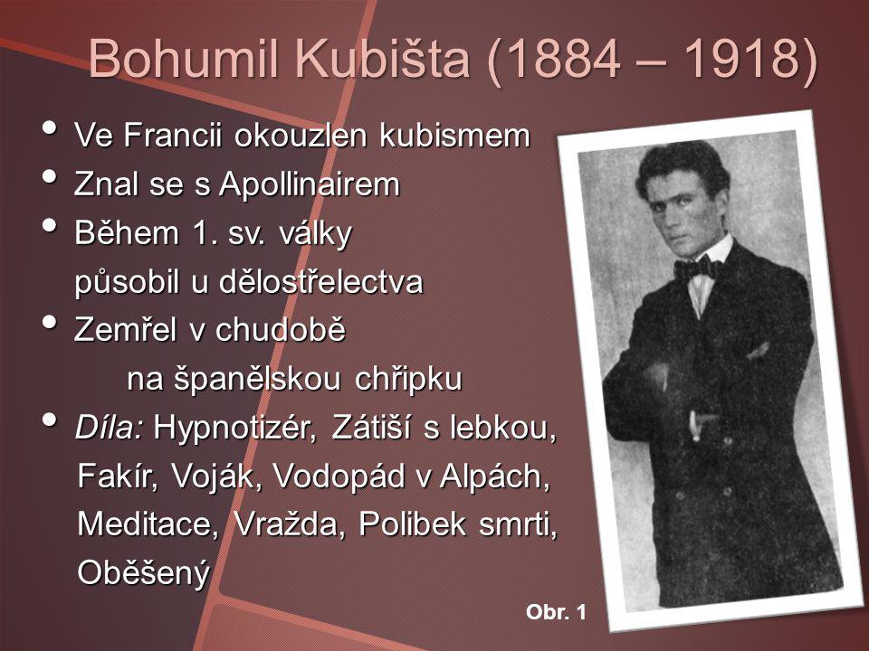 Bohumil Kubišta (1884 – 1918) Ve Francii okouzlen kubismem