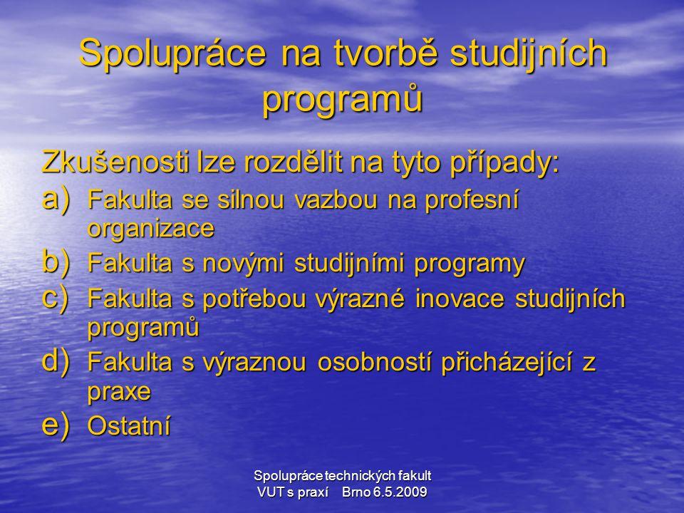 Spolupráce na tvorbě studijních programů
