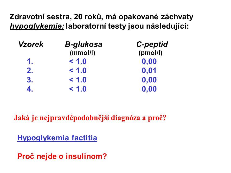 Vzorek B-glukosa C-peptid 1. < 1.0 0,00 2. < 1.0 0,01